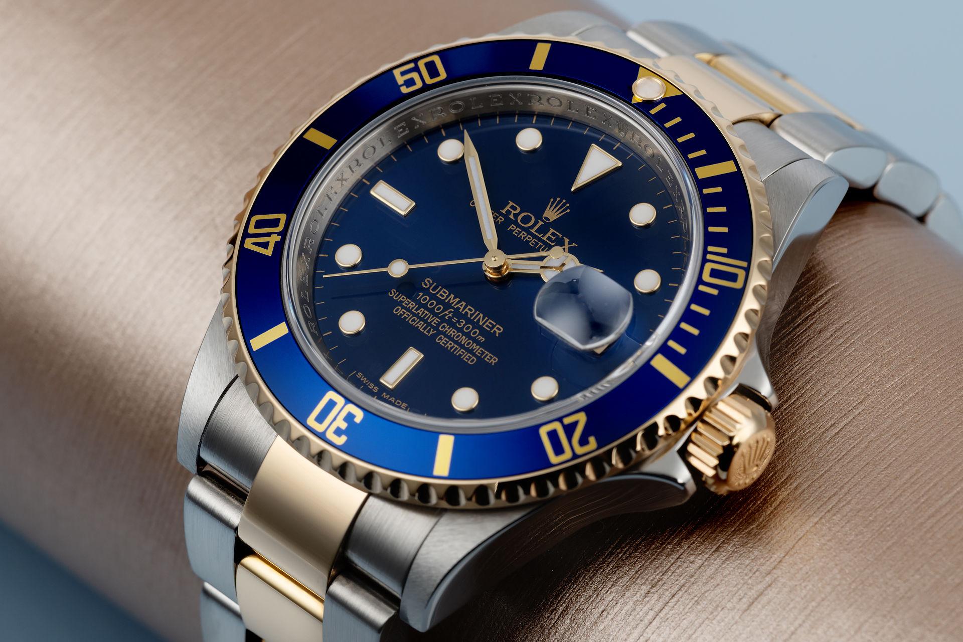 Rolex Submariner 16613 steel gold