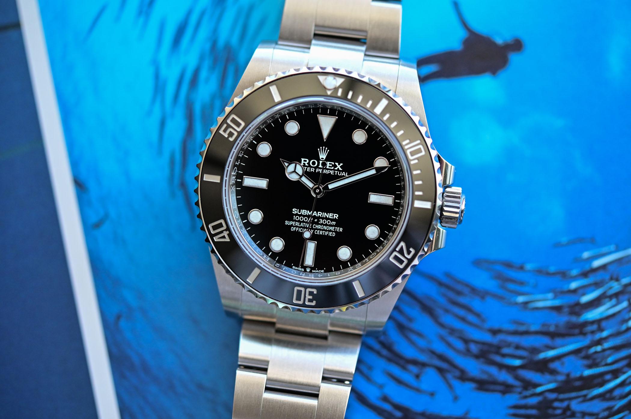 Rolex Submariner 41mm 124060 no-date Steel 2020 - dial and case