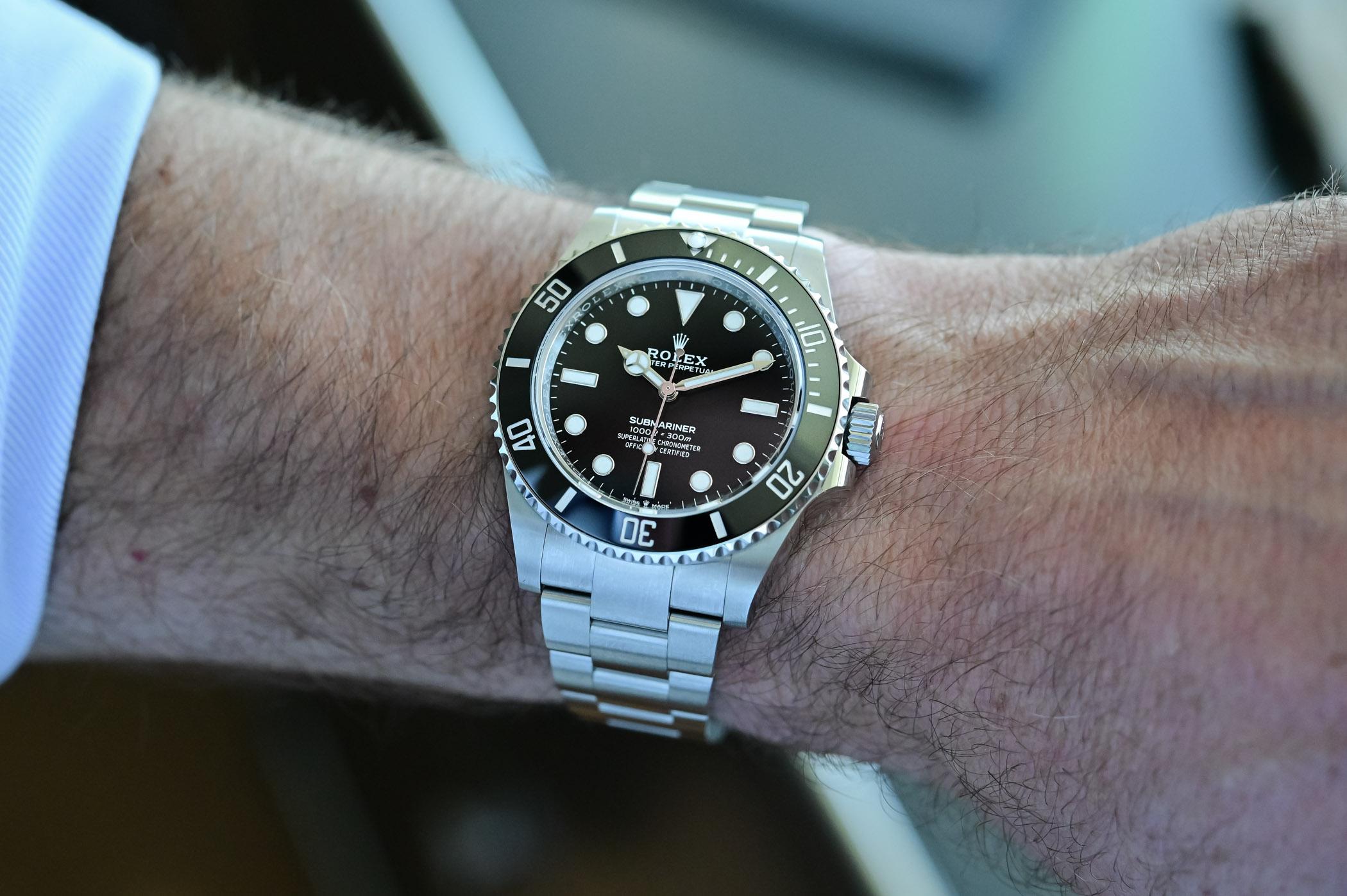 Rolex Submariner 41mm 124060 no-date Steel 2020 - wristshot