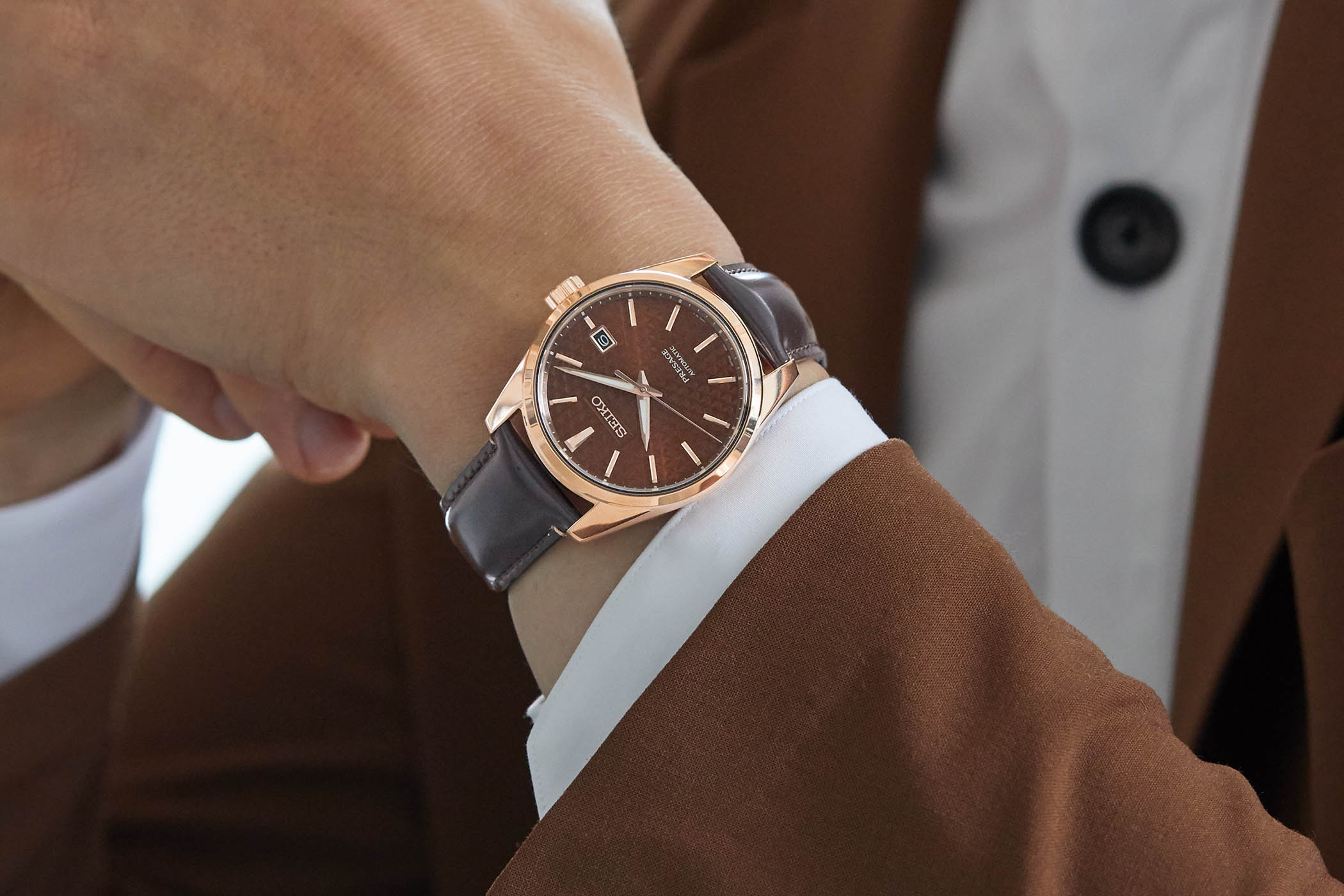 Seiko Presage Sharp Edged Series SPB170J1 wristshot