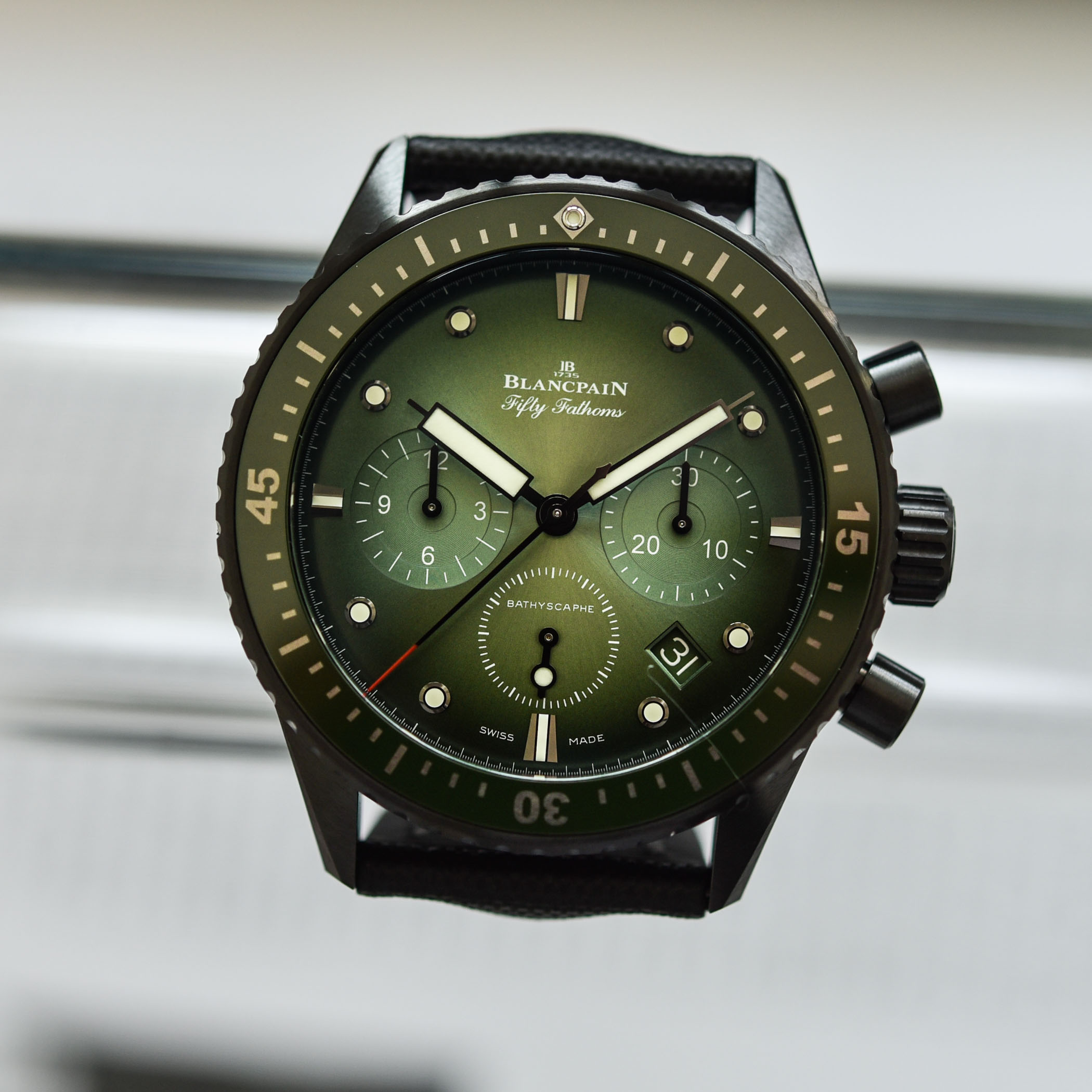 Blancpain Fifty Fathoms Bathyscaphe Chronograph Flyback Green