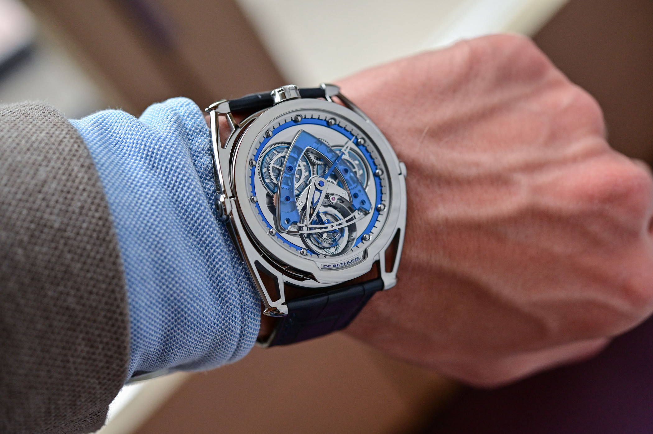 De Bethune DB28 Steel Wheels Saphir Tourbillon