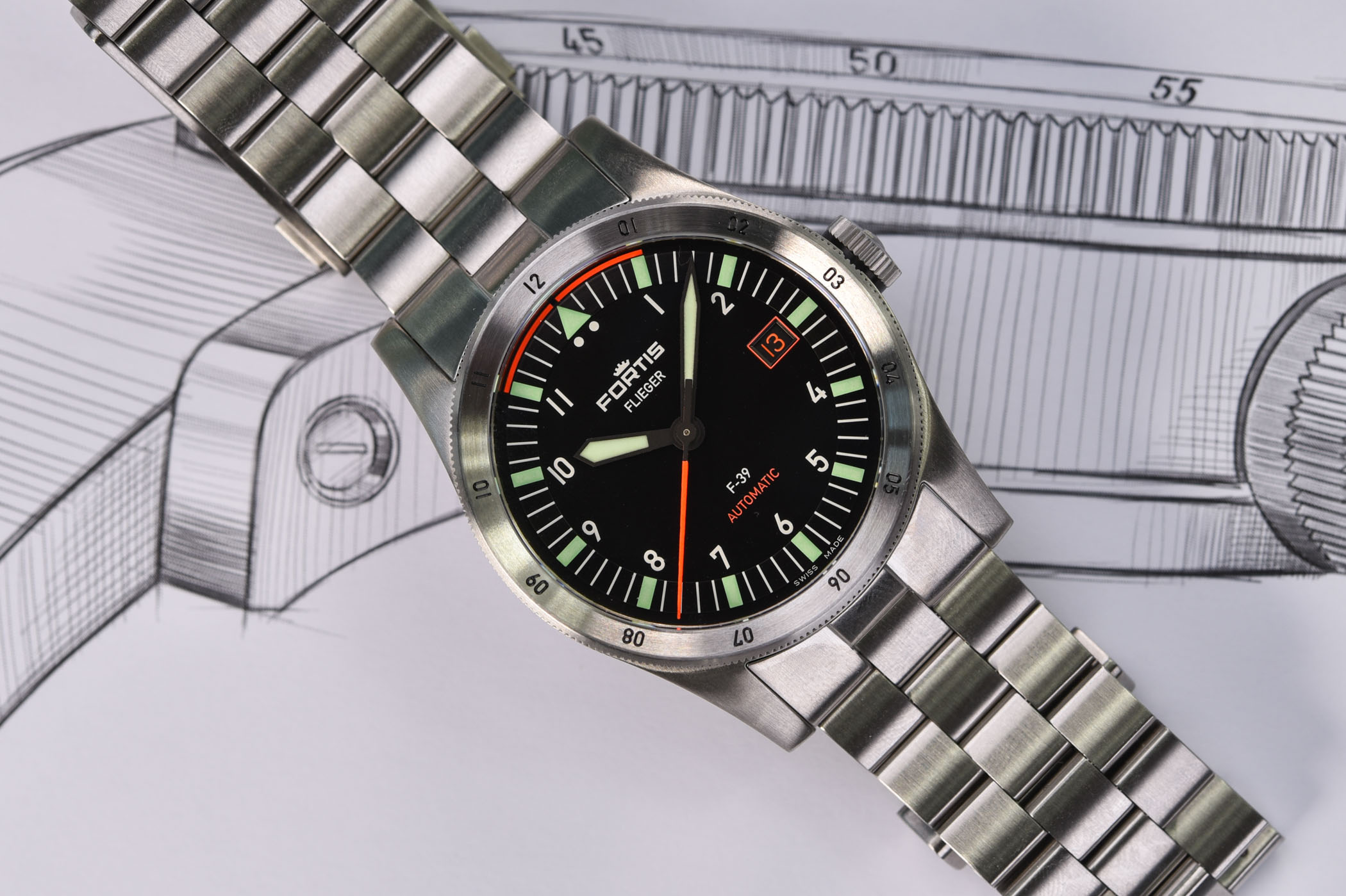 Fortis Flieger F-41 Automatic - Fortis Flieger F-39 Automatic - 10