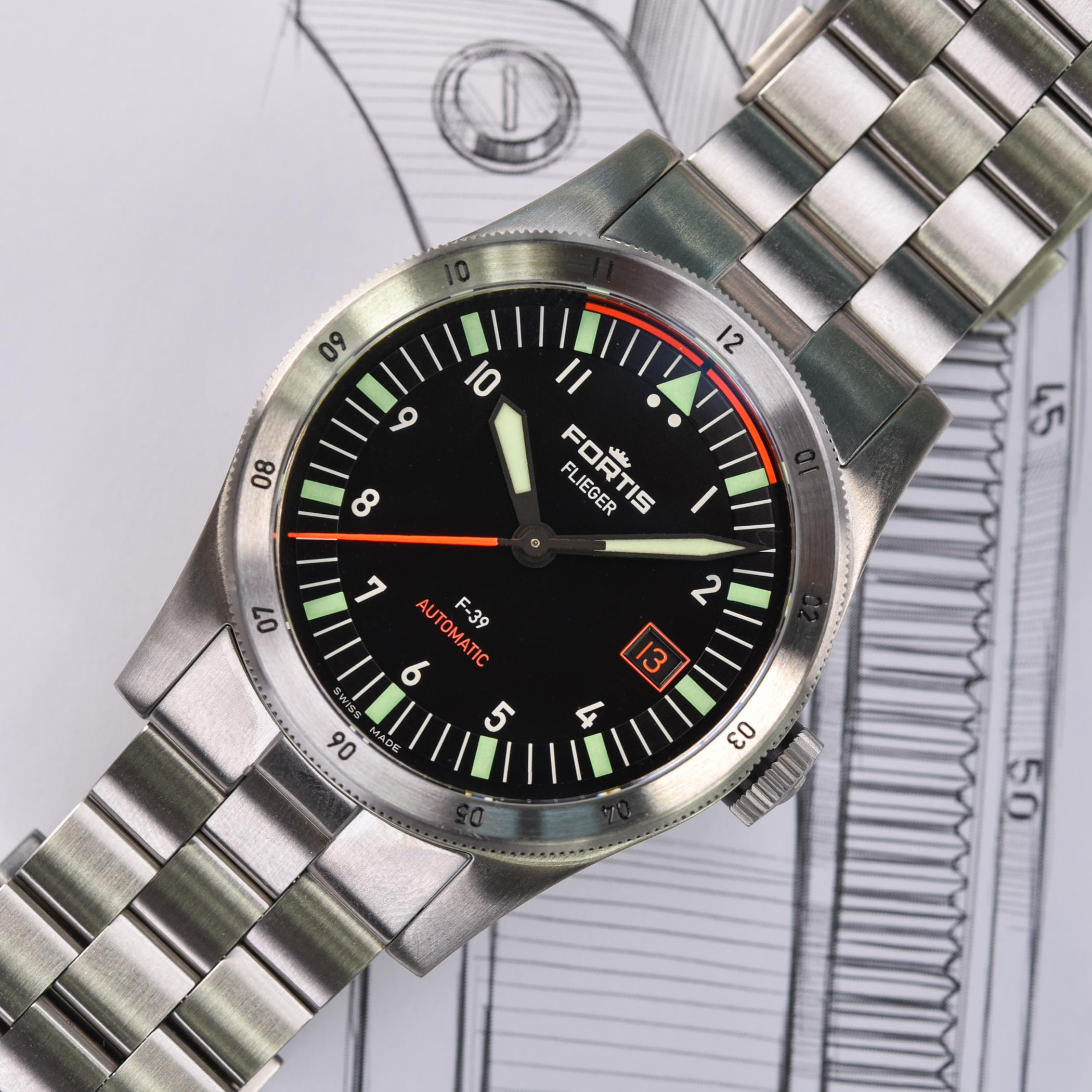 Fortis Flieger F-41 Automatic - Fortis Flieger F-39 Automatic - 9