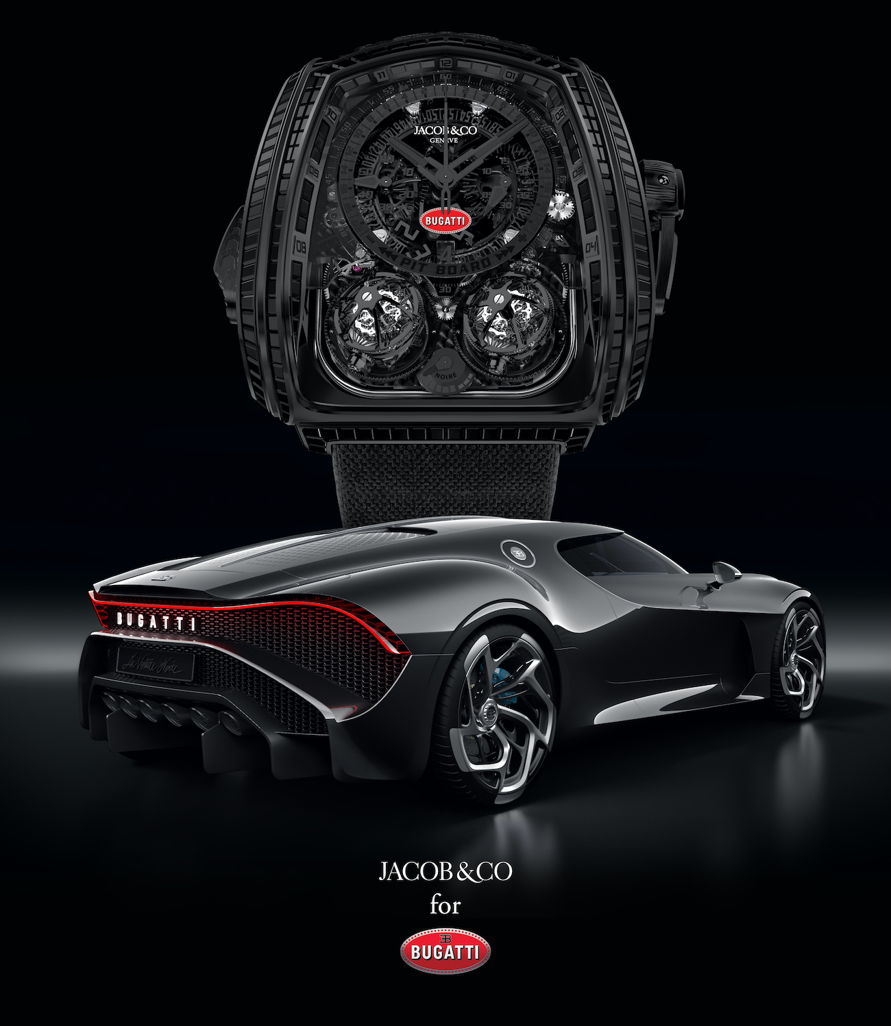 Jacob & Co Twin Turbo Furious Bugatti La Montre Noire