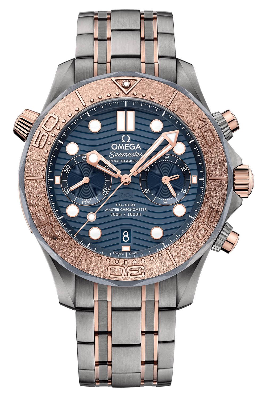 Omega Seamaster Diver 300m Chronograph sedna gold titanium tantalum - 2