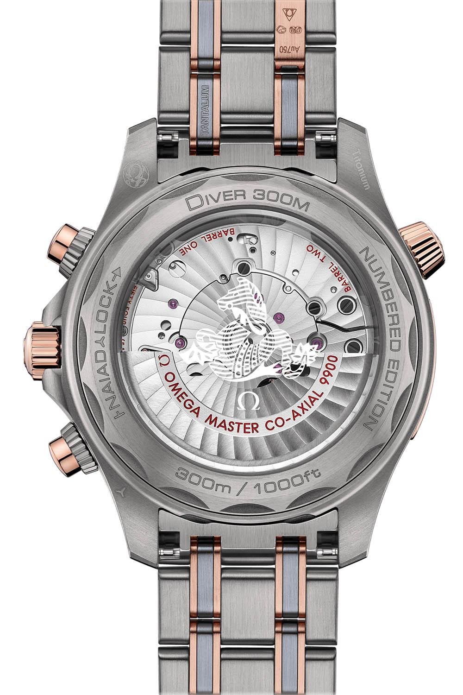 Omega Seamaster Diver 300m Chronograph sedna gold titanium tantalum - 3