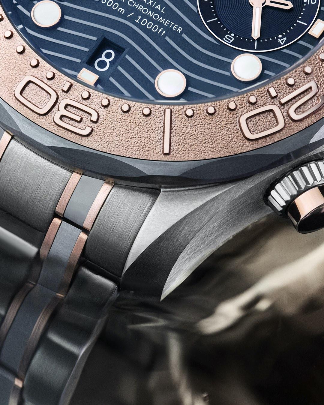 Omega Seamaster Diver 300m Chronograph sedna gold titanium tantalum - 5