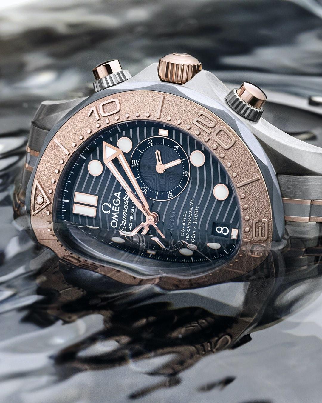 Omega Seamaster Diver 300m Chronograph sedna gold titanium tantalum - 6