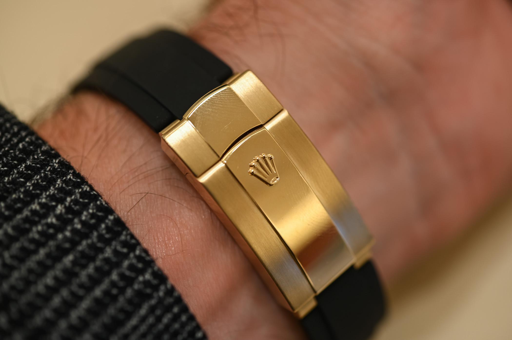 Rolex Sky-Dweller Oysterflex Bracelet Yellow Gold Black Dial 326238 - 4