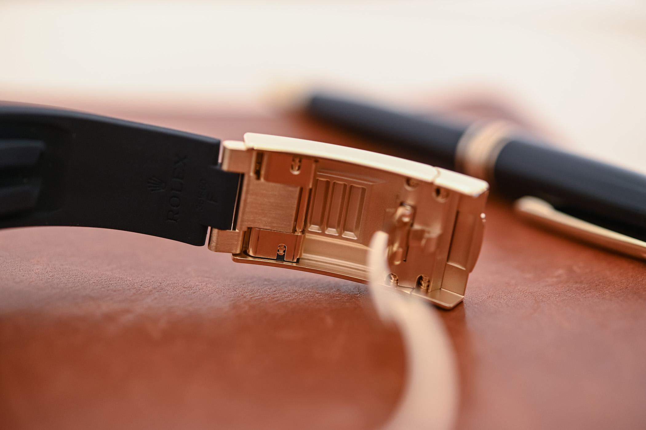 Rolex Sky-Dweller Oysterflex Bracelet Yellow Gold Black Dial 326238 - 5