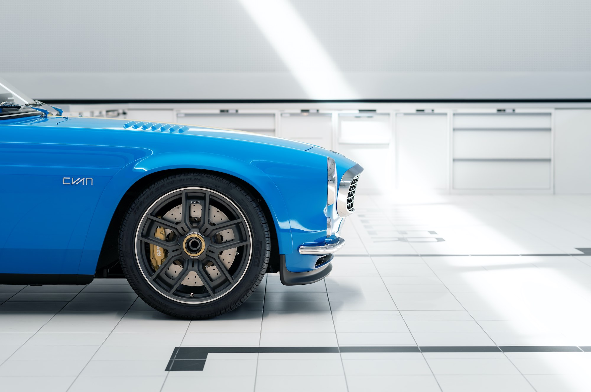 The Petrolhead Corner - Restomod Volvo P1800 Cyan