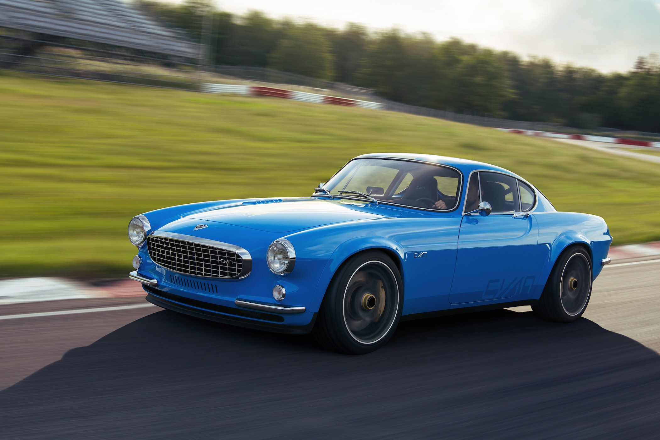 The Petrolhead Corner - Restomod Volvo P1800 Cyan