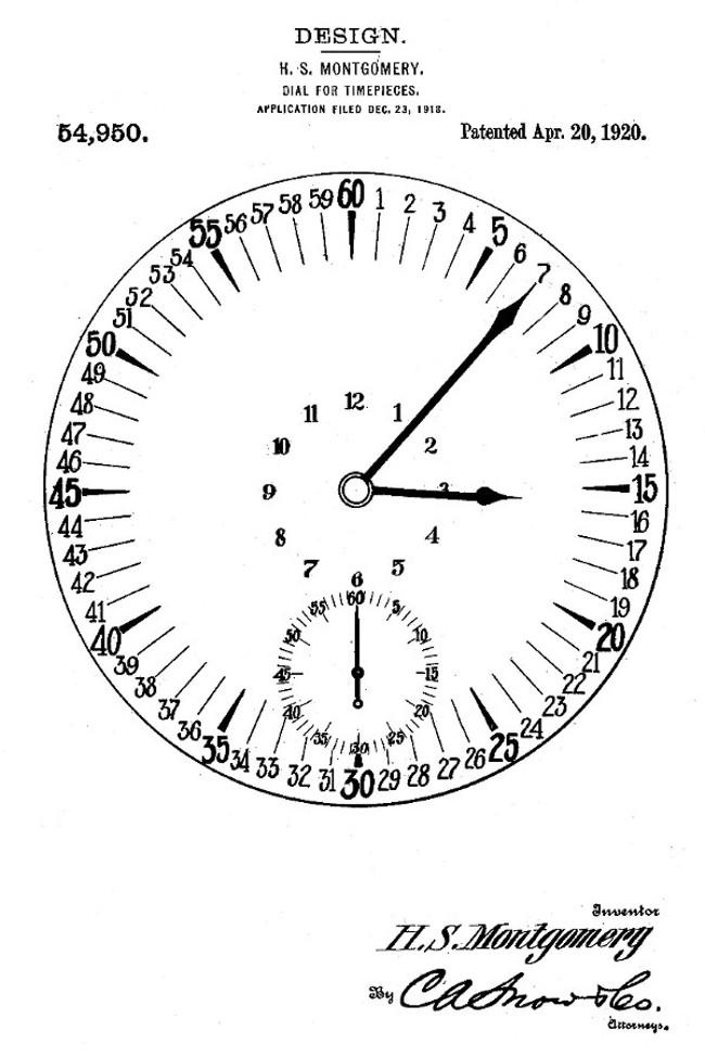 1920 Type II Montgomery Marginal Minute Dial