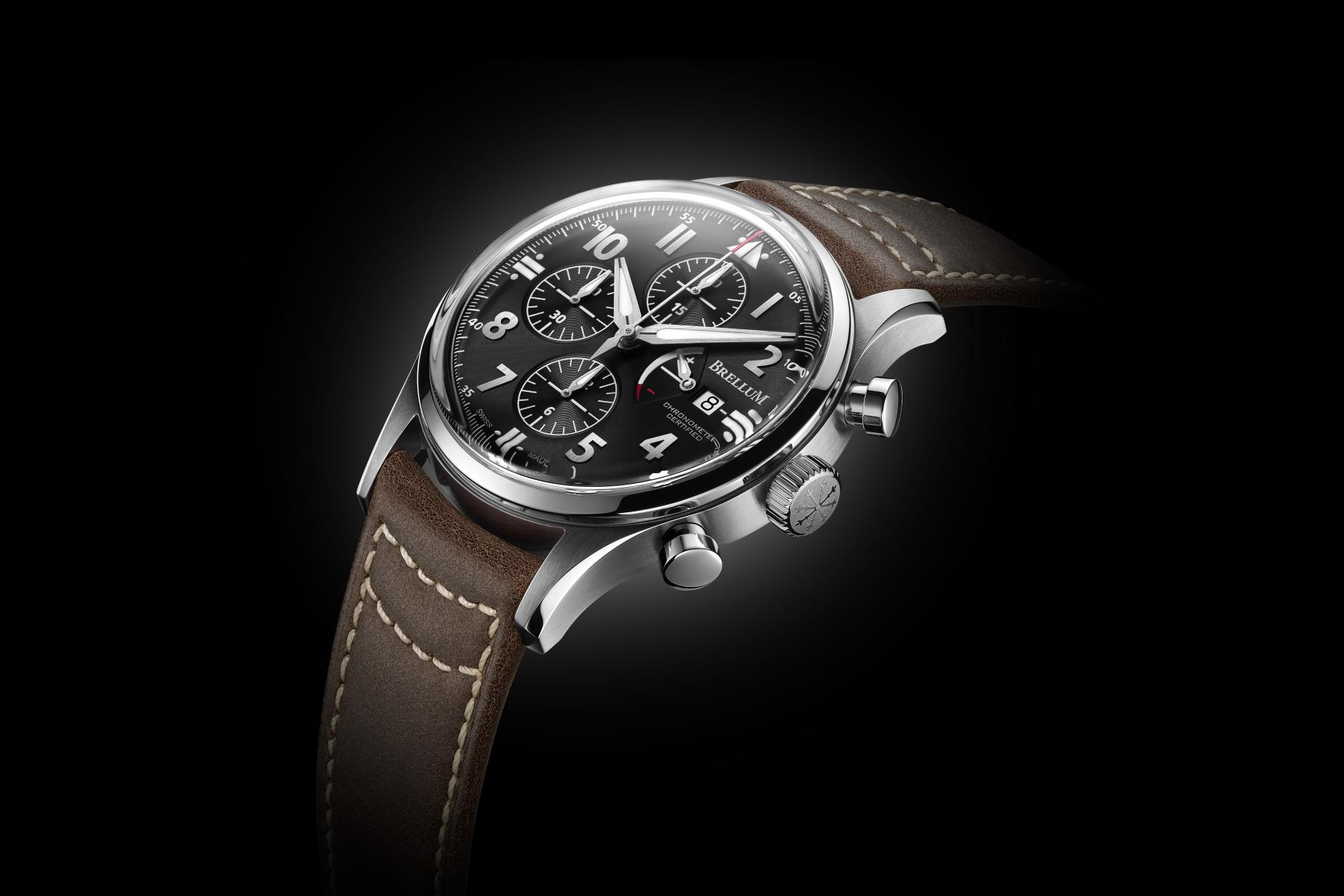 Brellum Pilot Power Gauge Chronometer - Monochrome Watches