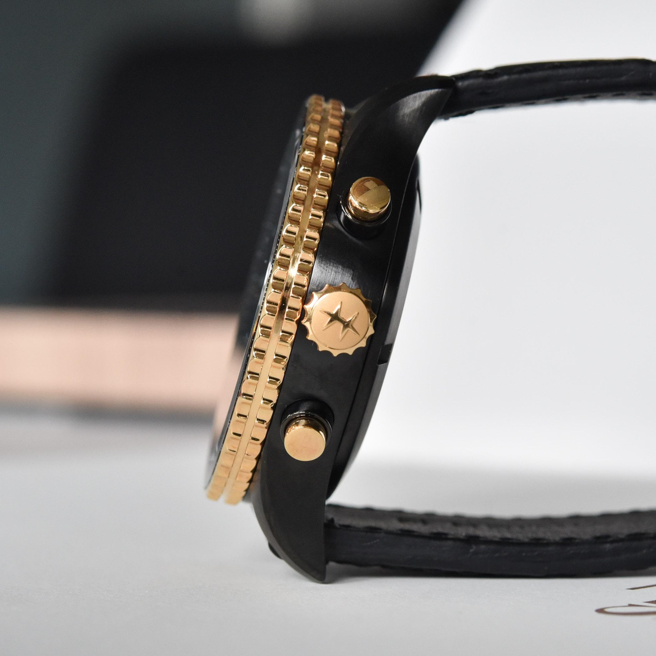 Hamilton Khaki Aviation Converter Automatic Chronograph Black and gold - H76736730 - 1