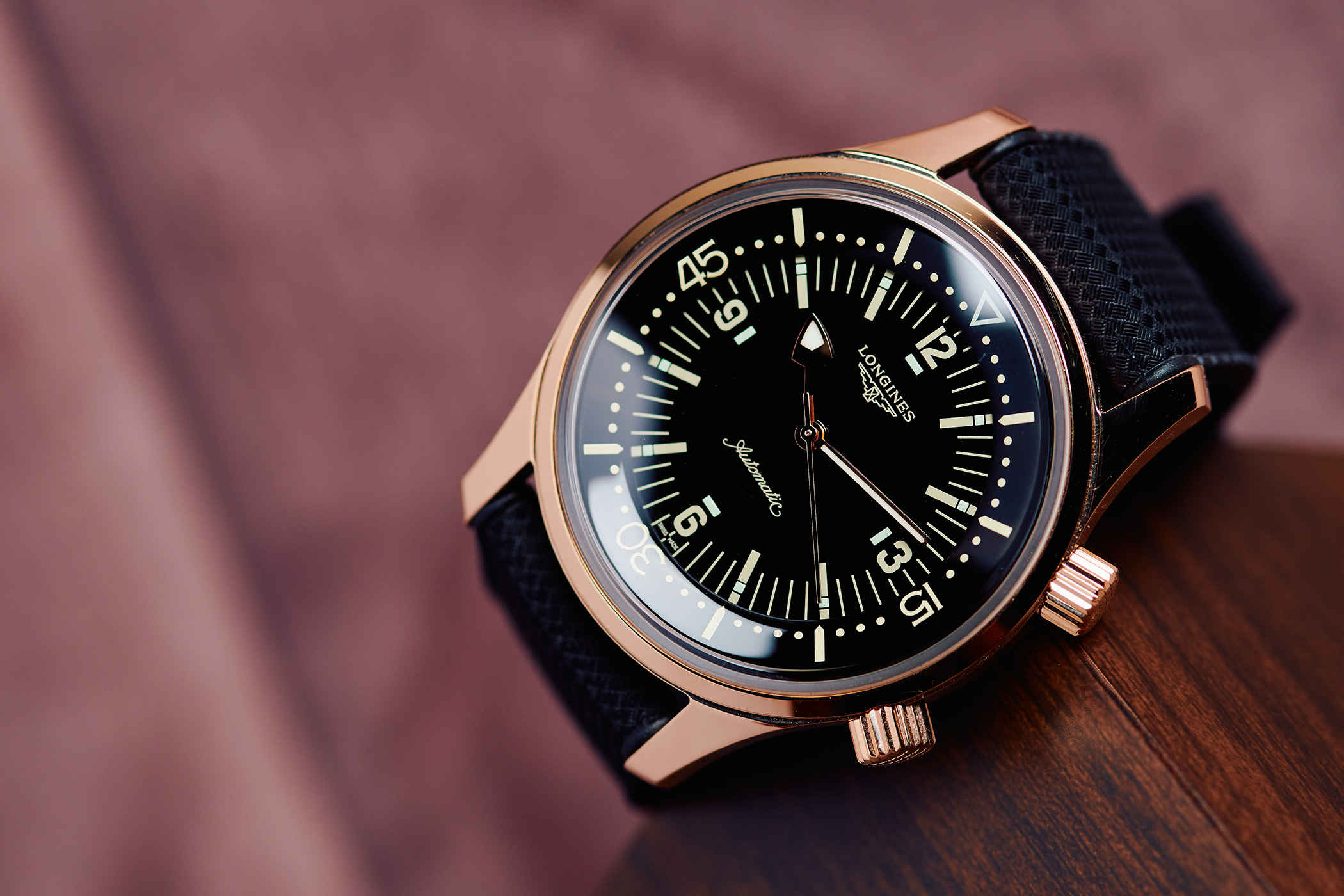 Longines Legend Diver No Date Rose Gold Poland Limited Edition