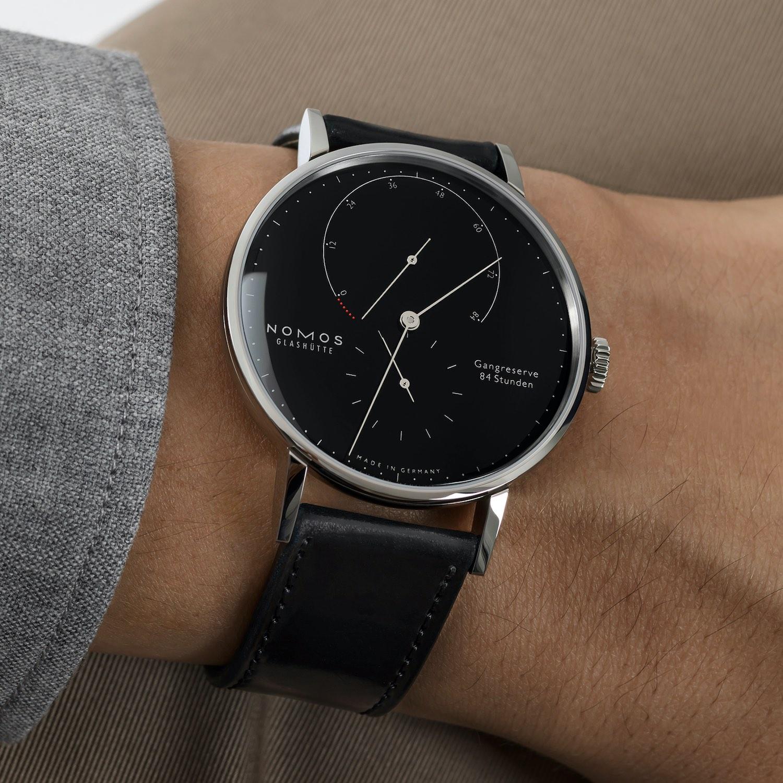 Nomos Lambda 175 Years Watchmaking in Glashutte Steel Black