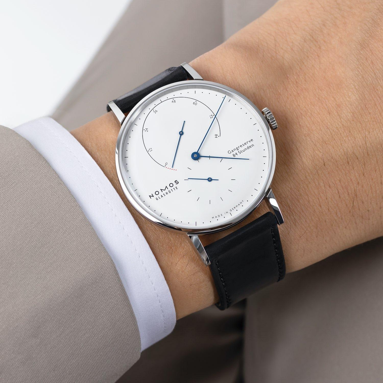 Nomos Lambda 175 Years Watchmaking in Glashutte Steel White
