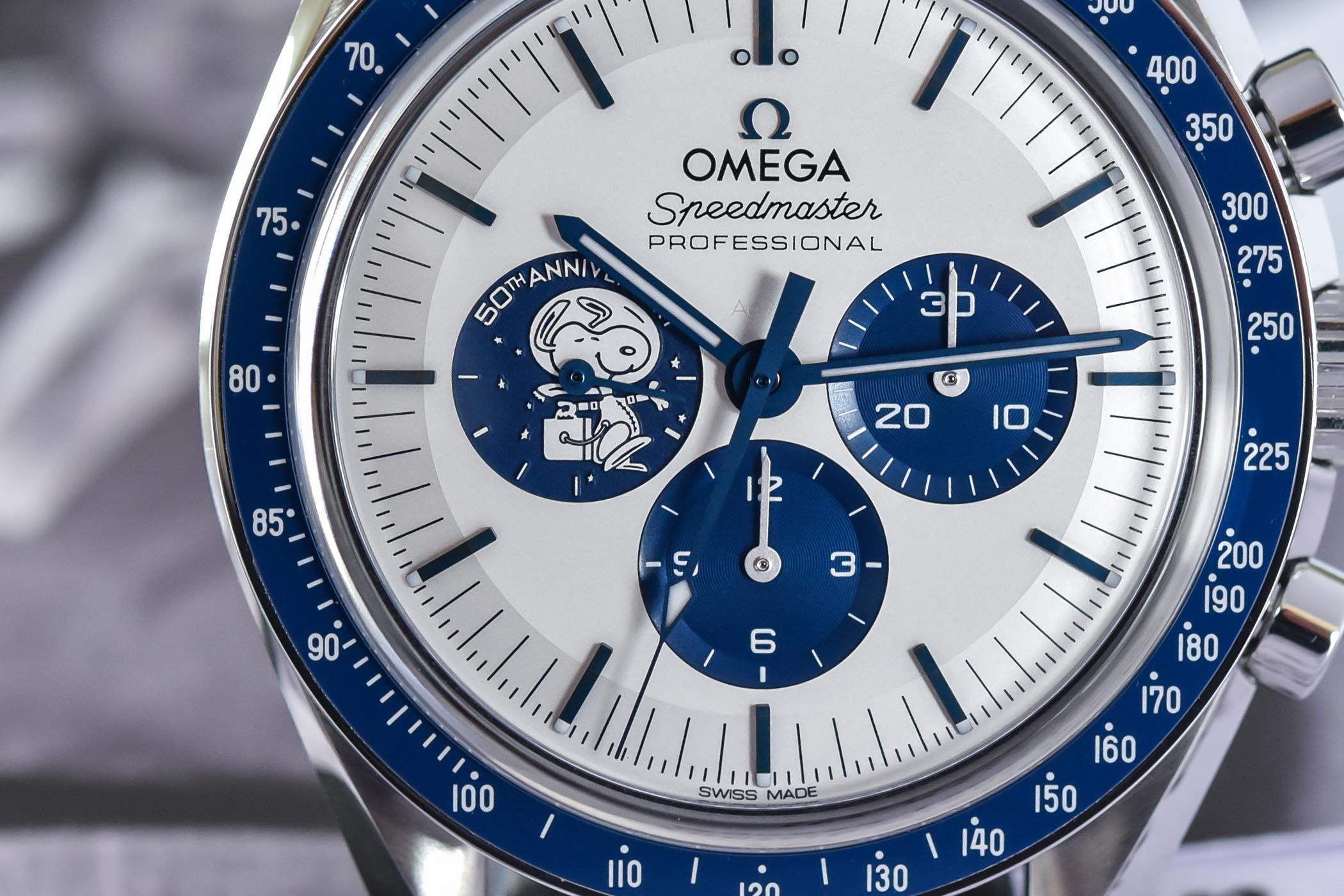 Omega Speedmaster Silver Snoopy Award 50th Anniversary