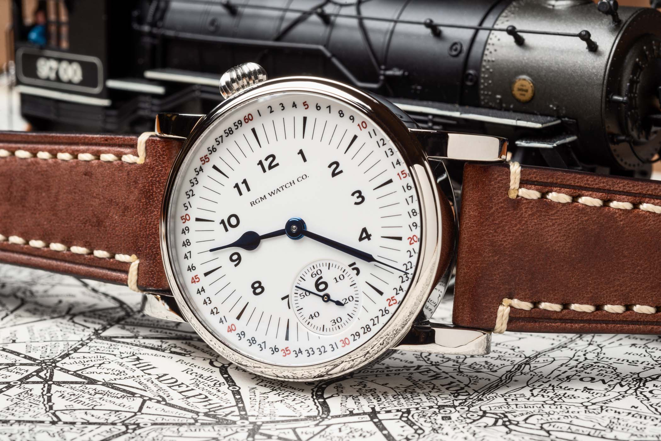 RGM Model 222-RR railroad Montgomery Marginal Minute Dial - american-made watch