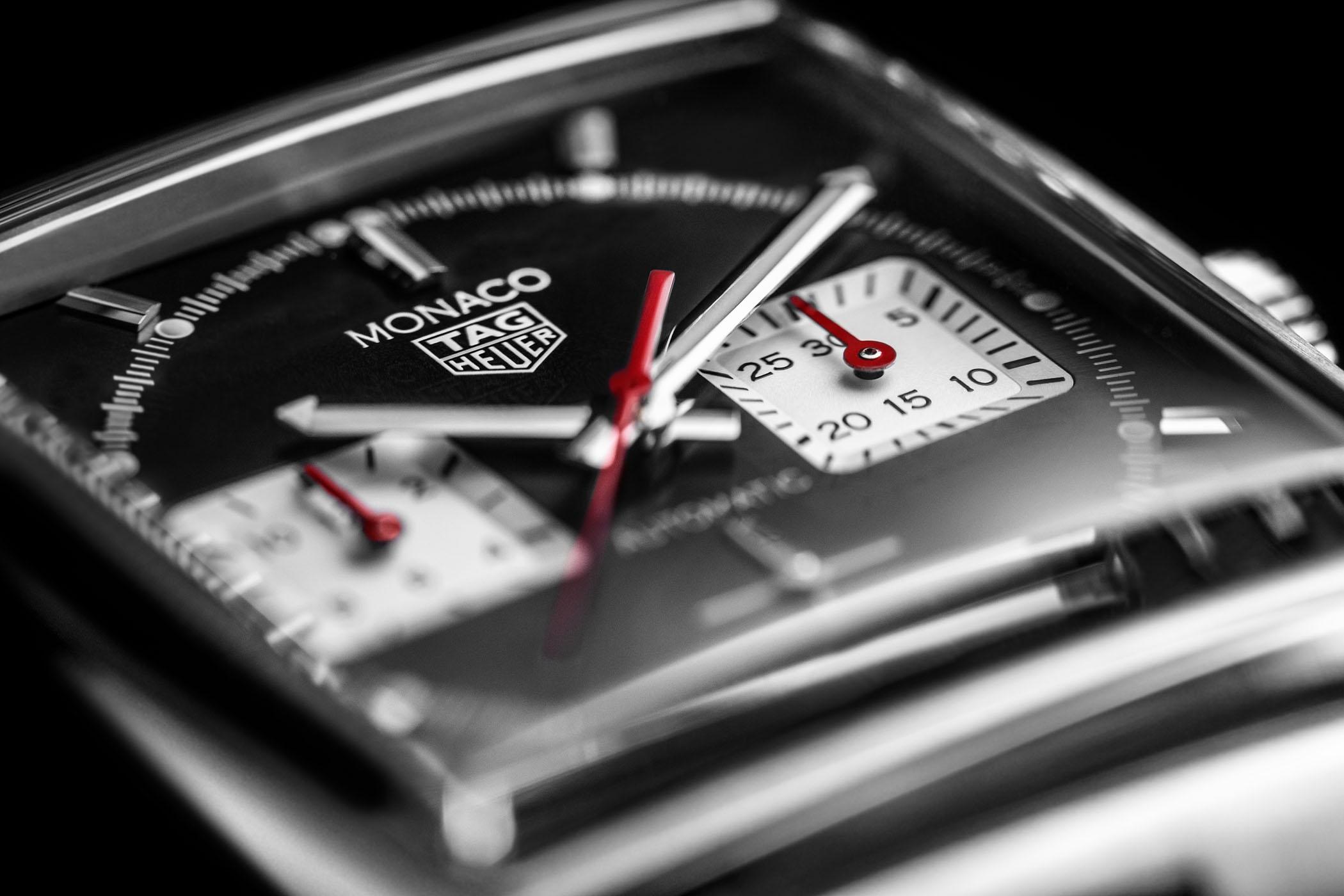 TAG Heuer Monaco Calibre Heuer 02 Black Steel bracelet - CBL2113.BA0644