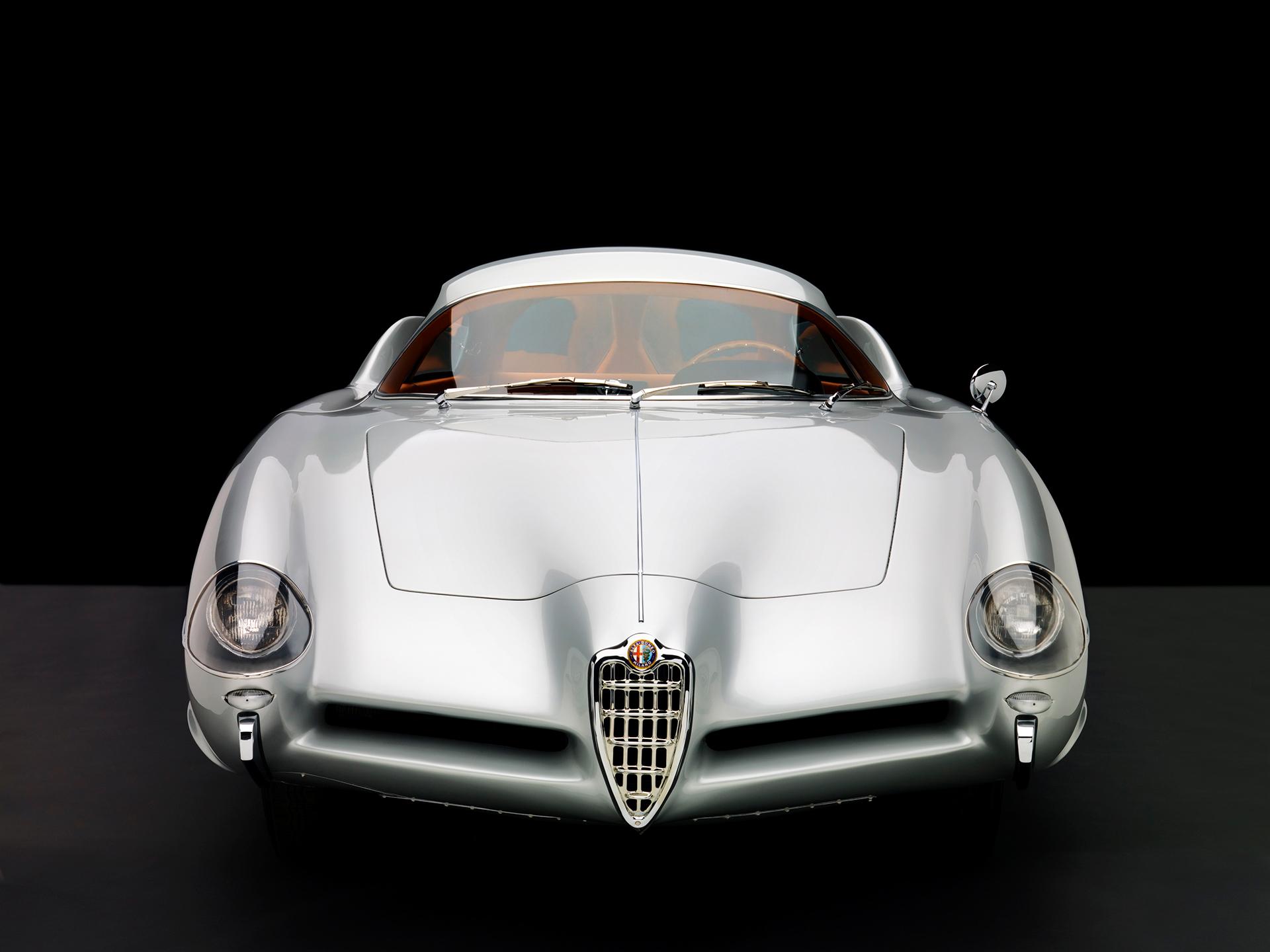 1955 Alfa Romeo Bertone B.A.T 9 Silver Head On View Studio