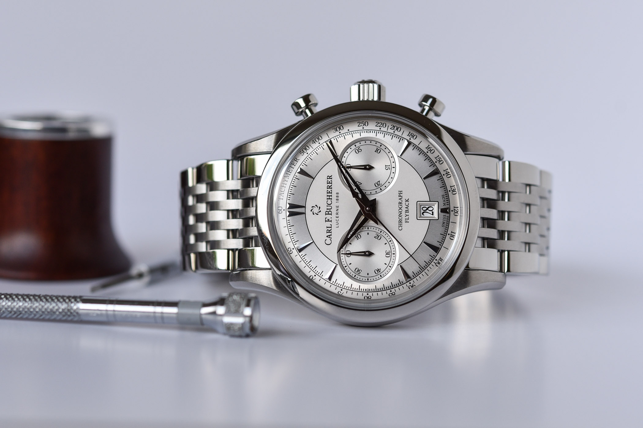 Carl F. Bucherer Manero Flyback Steel Bracelet