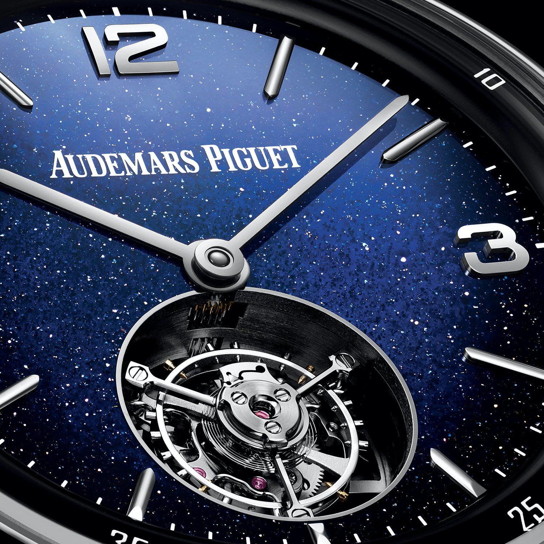Code 11.59 By Audemars Piguet Selfwinding Flying Tourbillon aventurine enamel dial