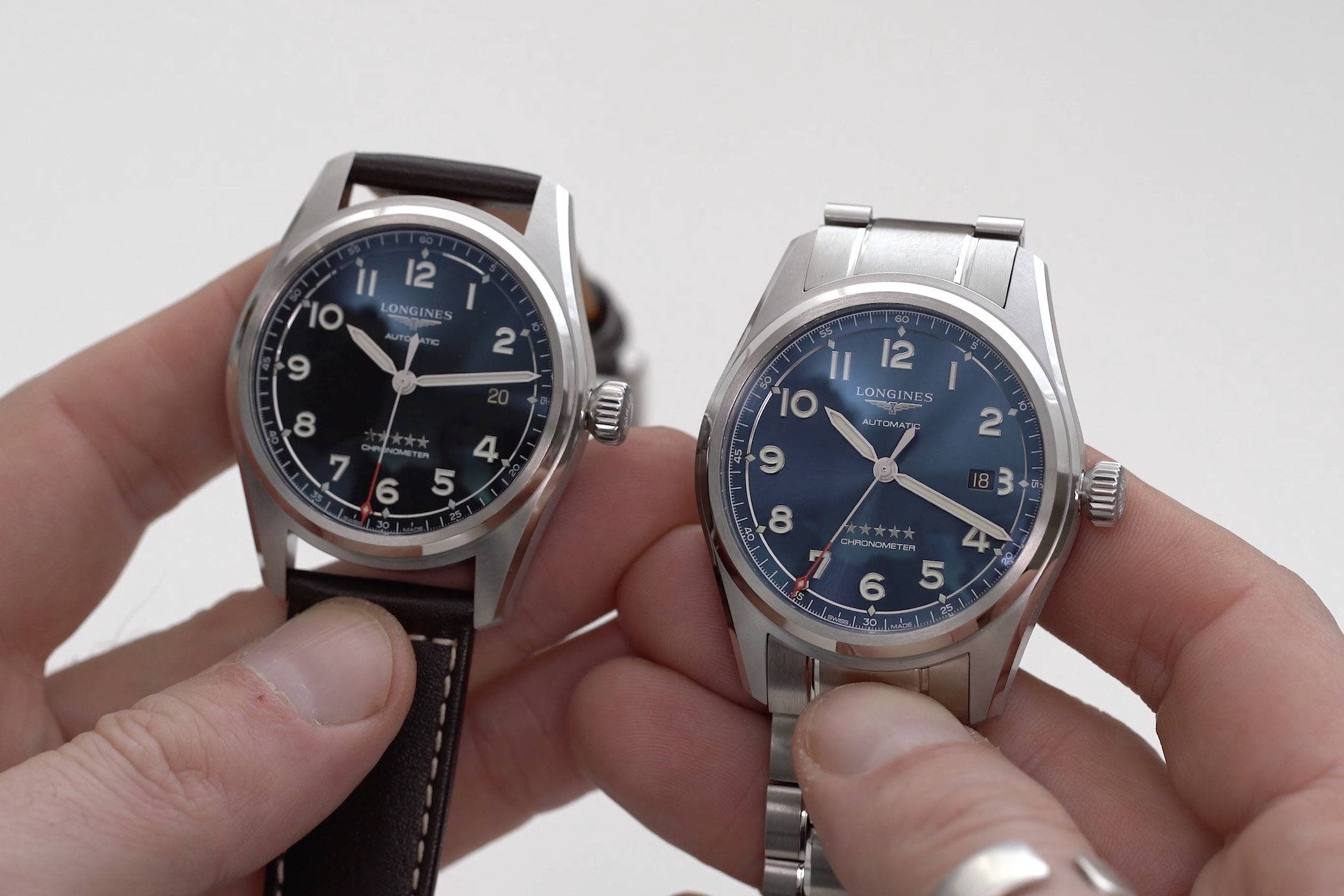 Comparative video review Longines Spirit time-and-date 40mm and 42mm