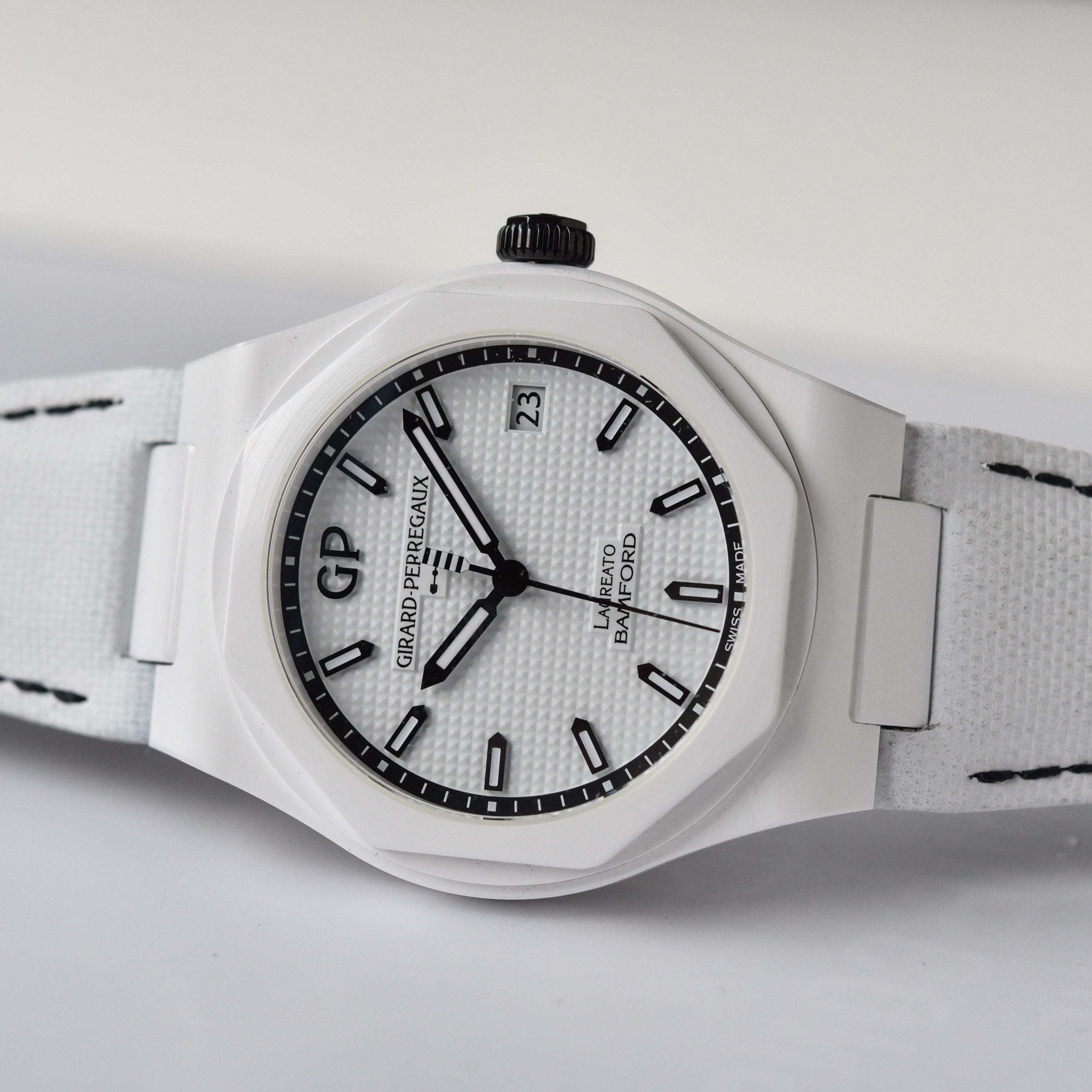 Girard Perregaux Laureato Ghost 38mm Bamford White Ceramic - 1