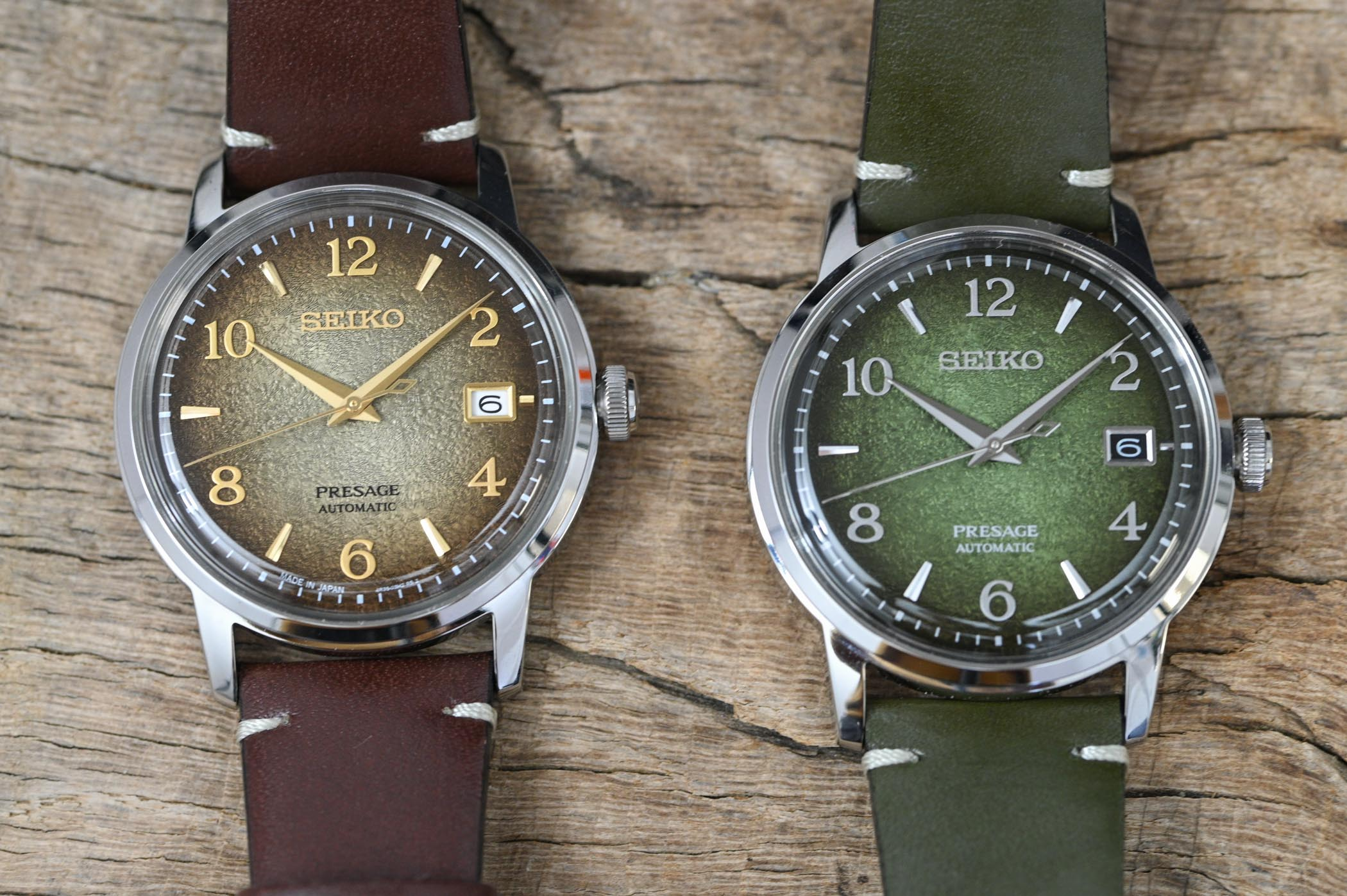Seiko Presage Cocktail Matcha SRPF41J1 and Hojicha SRPF43J1
