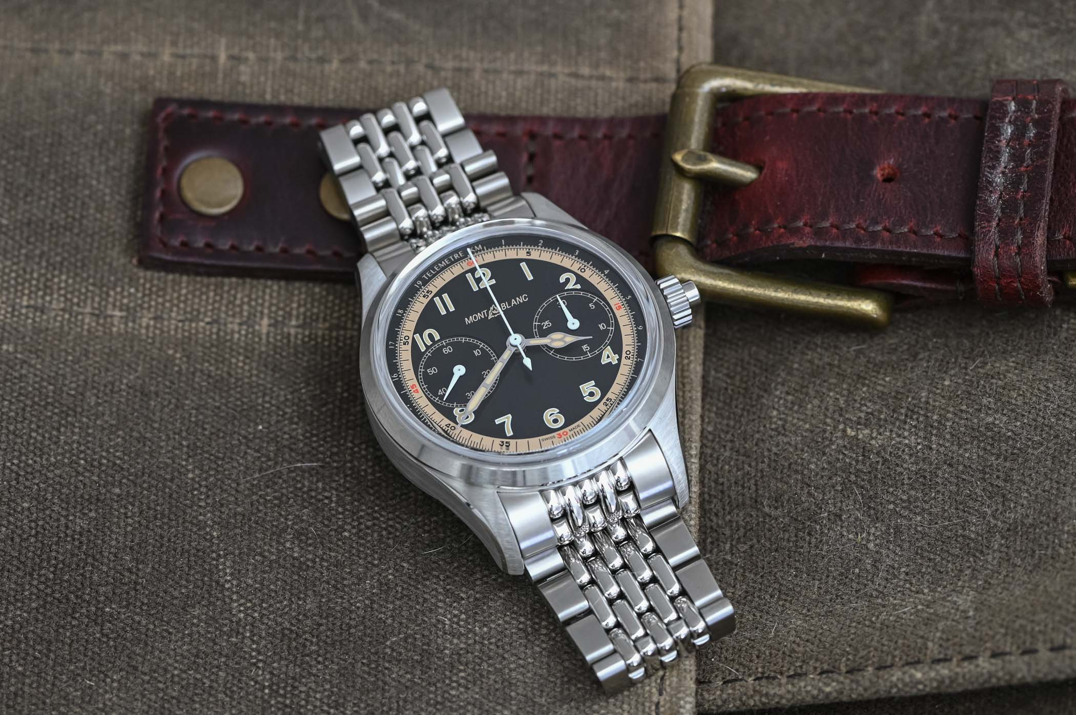 Montblanc 1858 Monopusher Chronograph Bead of rice Stainless Steel