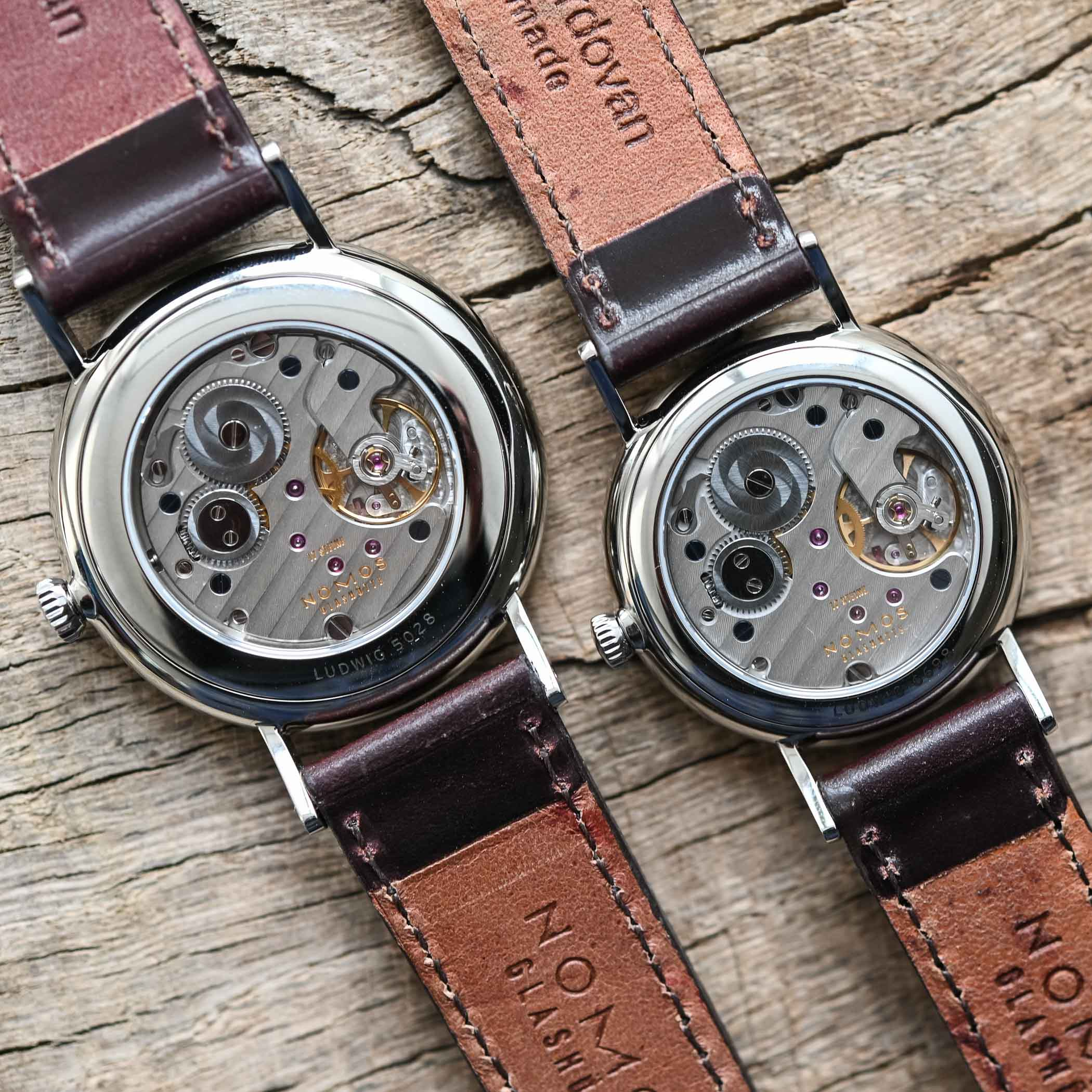 NOMOS Ludwig 38 and Ludwig 33 Duo Annual Holiday Watches - enamel dial 175th anniversary watchmaking glashutte - 6