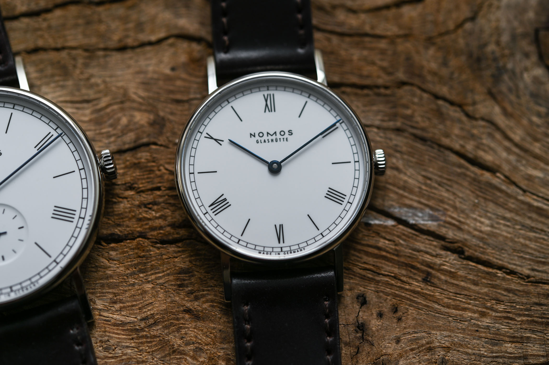 NOMOS Ludwig 38 and Ludwig 33 Duo Annual Holiday Watches - enamel dial 175th anniversary watchmaking glashutte - 8