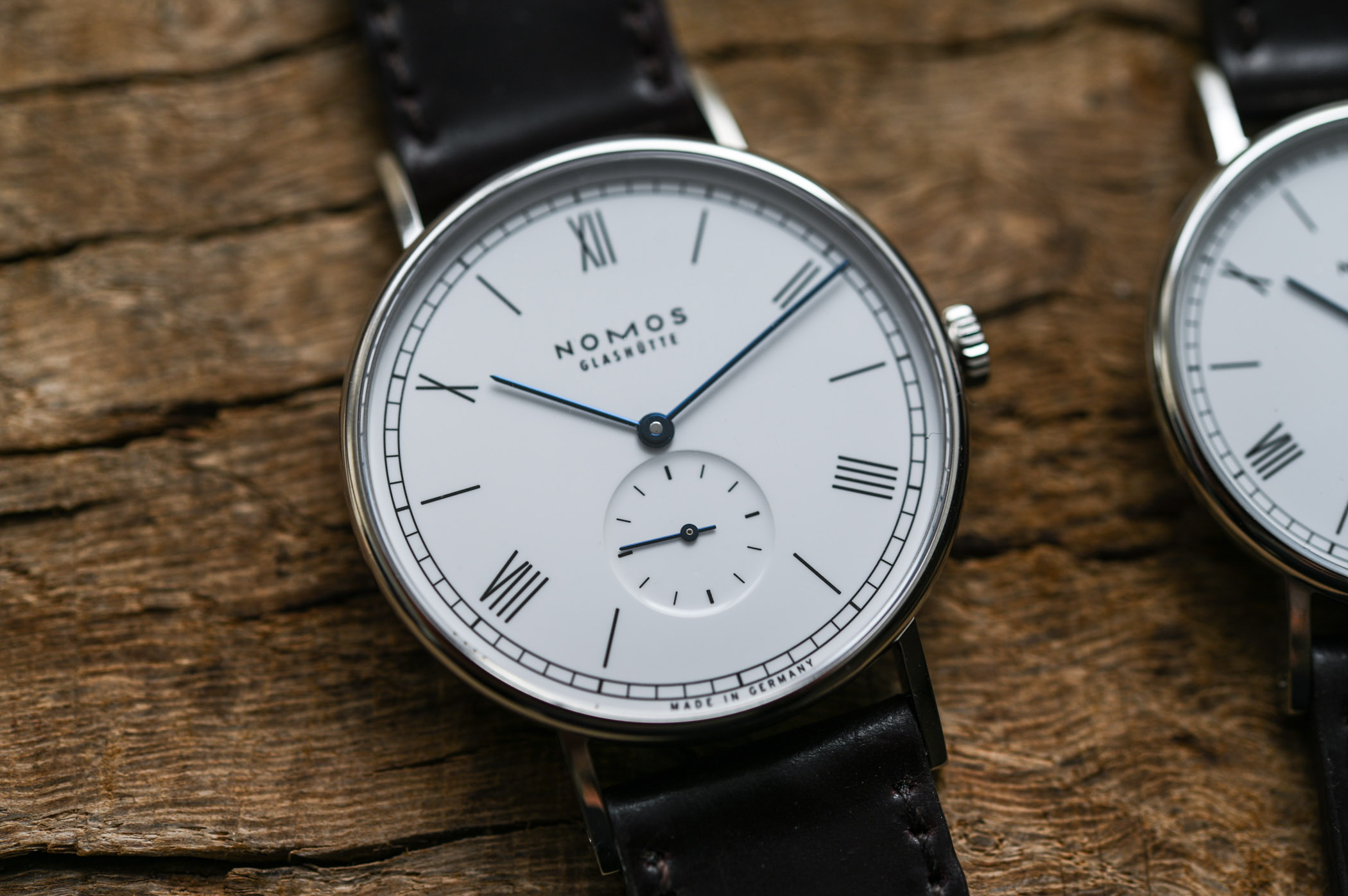 NOMOS Ludwig 38 and Ludwig 33 Duo Annual Holiday Watches - enamel dial 175th anniversary watchmaking glashutte - 9