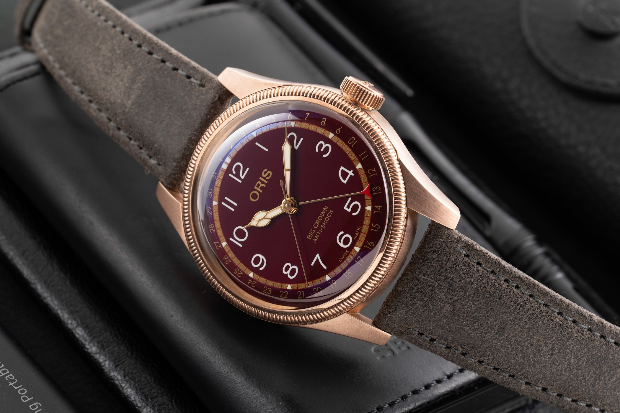 Oris Big Crown Pointer Date Fratello Edition Oxblood Bronze