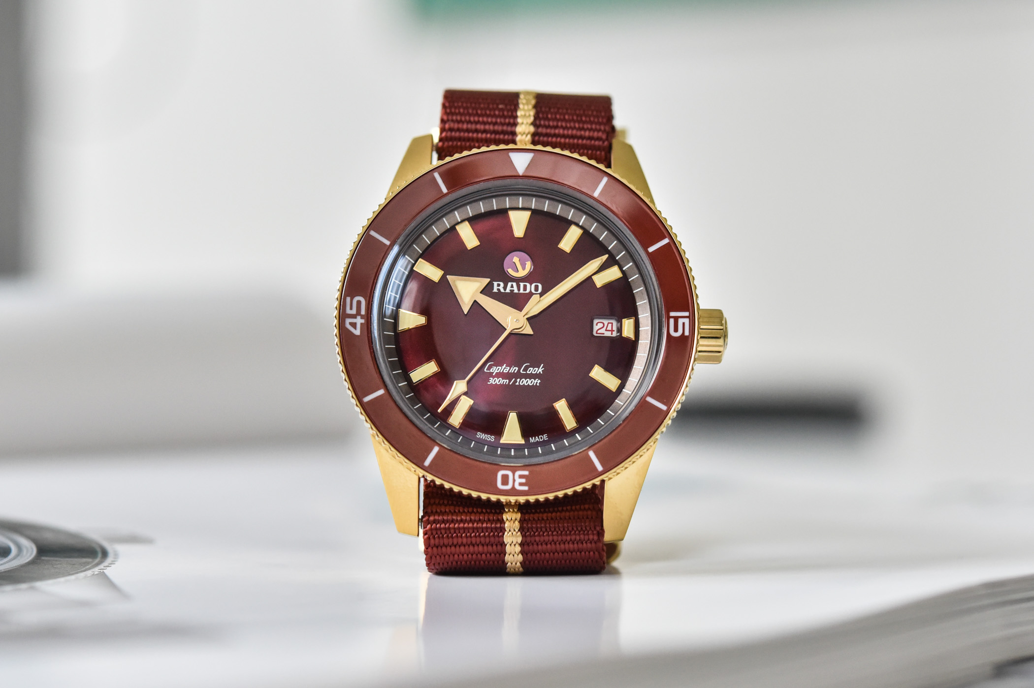 Rado Captain Cook Bronze Burgundy Automatic