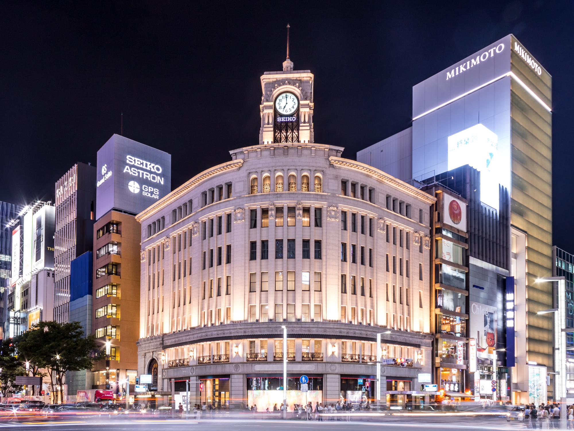Seiko building tower clock ginza - 1