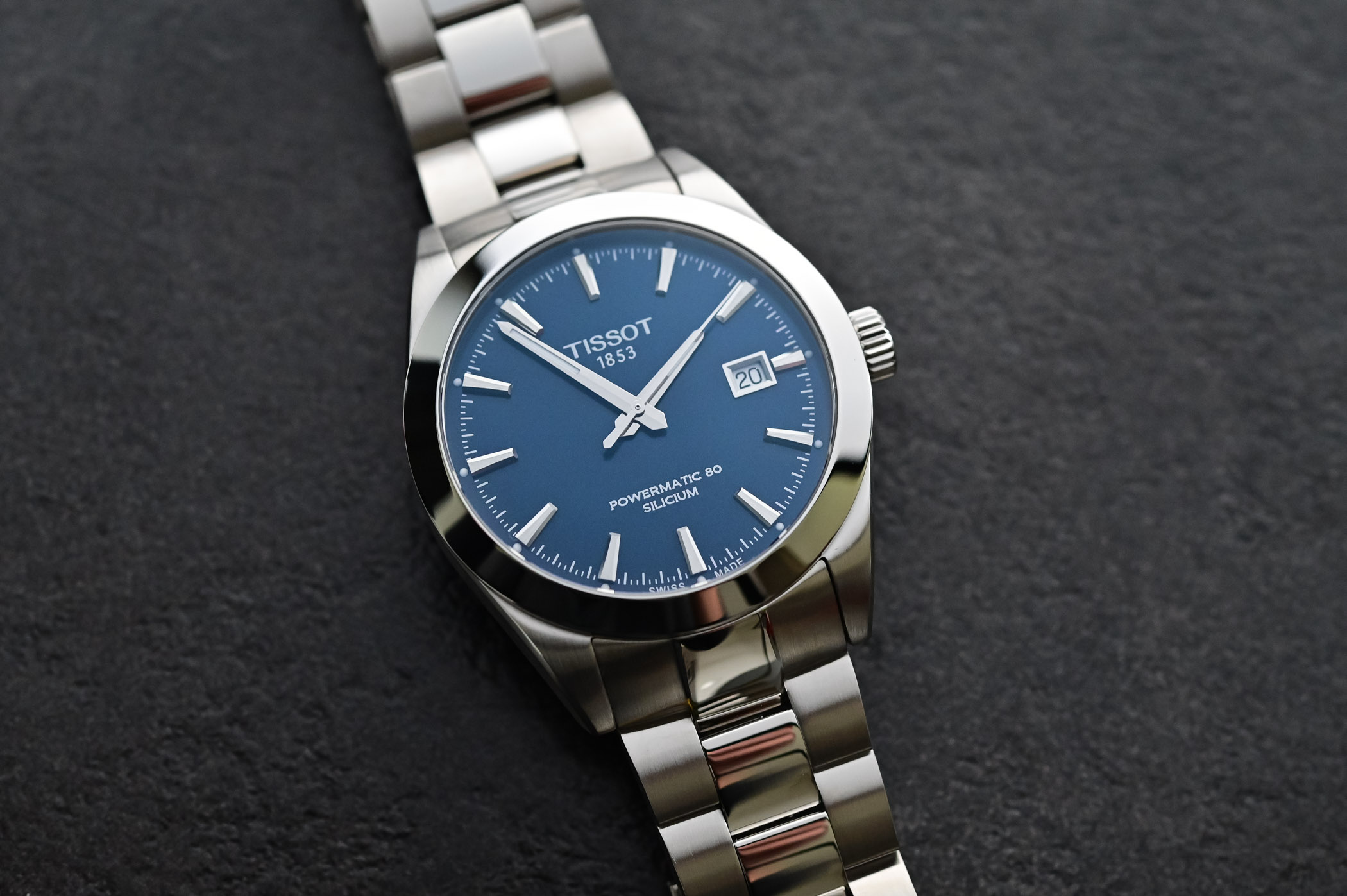 Tissot Gentleman Powermatic 80 Silicium Blue Dial