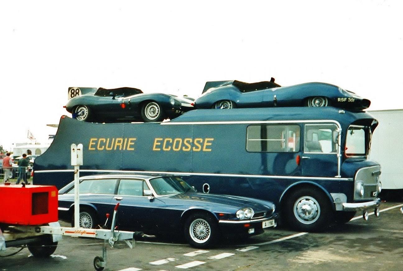 82. Ecurie Ecosse Transporter with 1956 Jaguar D-type & 1959 Tojeiro Jaguar (1994 Coys)