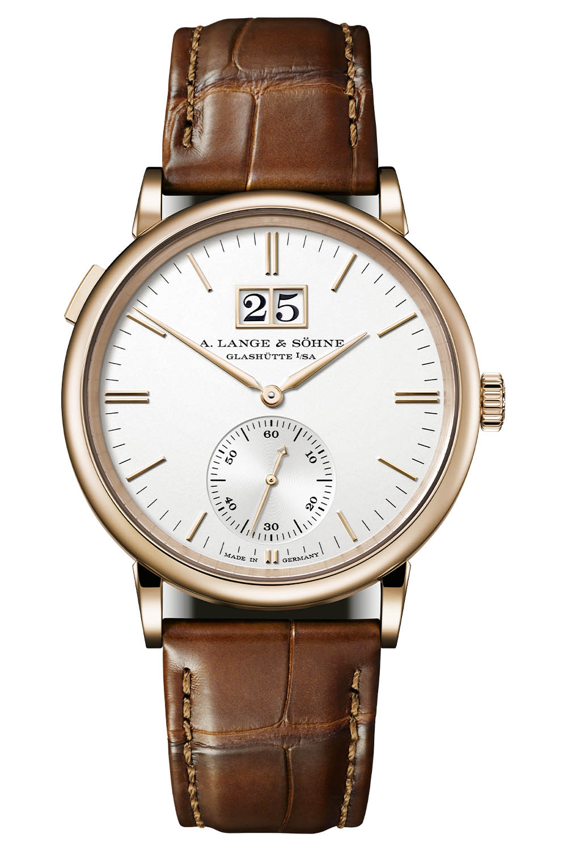 A. Lange & Söhne Saxonia Outsize Date Silver Dial 381.032