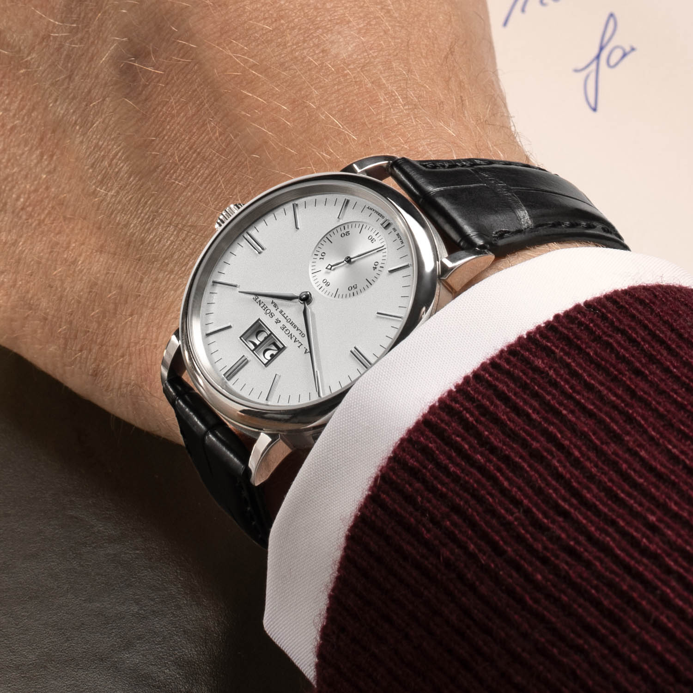 A. Lange & Söhne Saxonia Outsize Date Silver Dial 2020