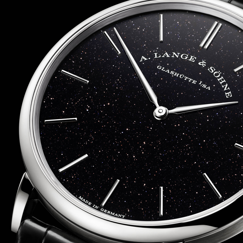 A. Lange & Söhne Saxonia Thin Black Gold Flux 211.087