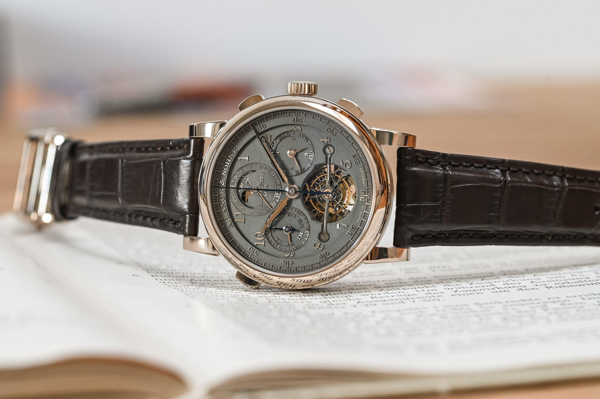 "A. Lange & Söhne Tourbograph Perpetual Honeygold ""Homage to F. A. Lange"""