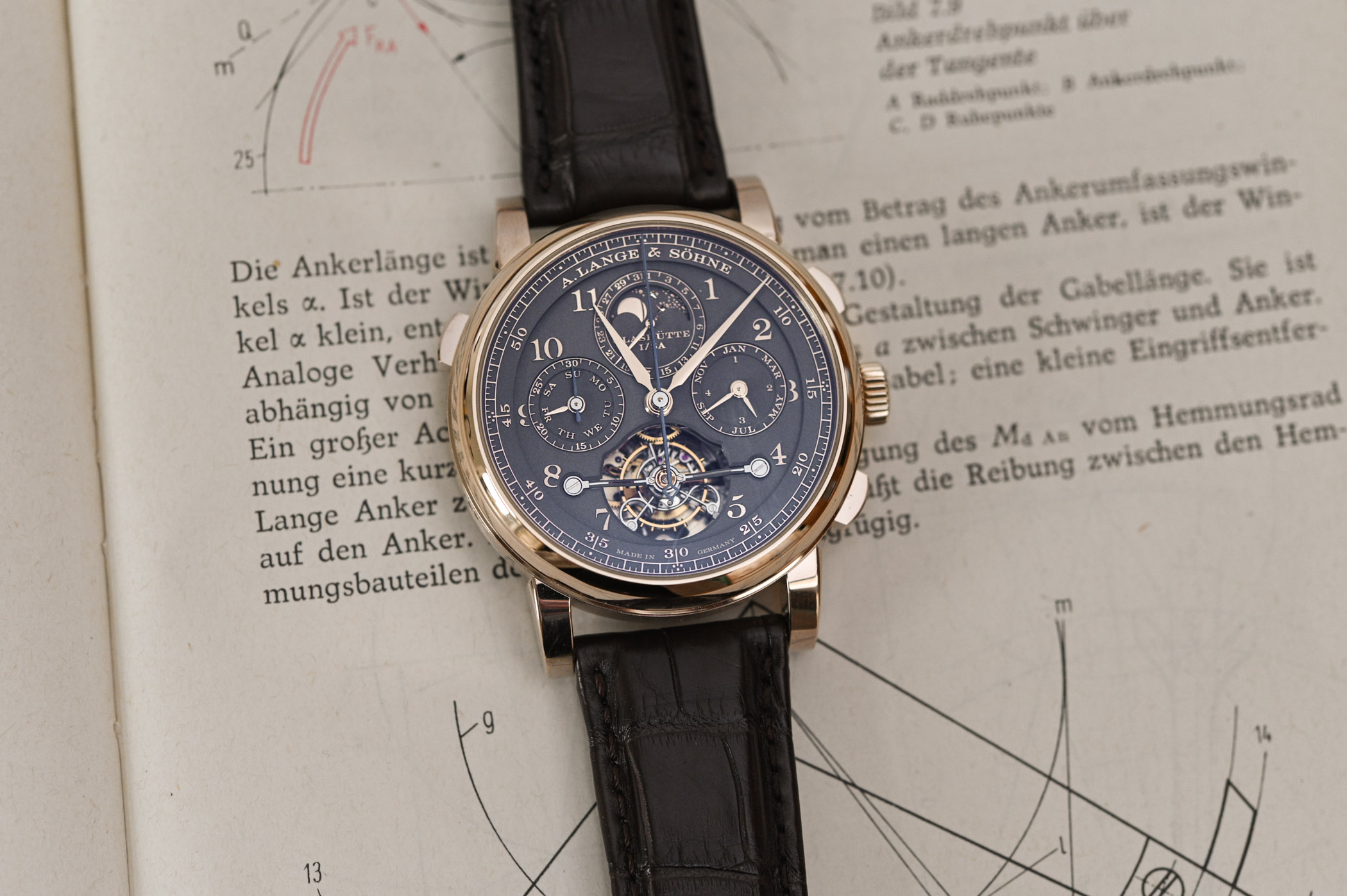 """A. Lange & Söhne Tourbograph Perpetual Honeygold """"Homage to F. A. Lange"""""""