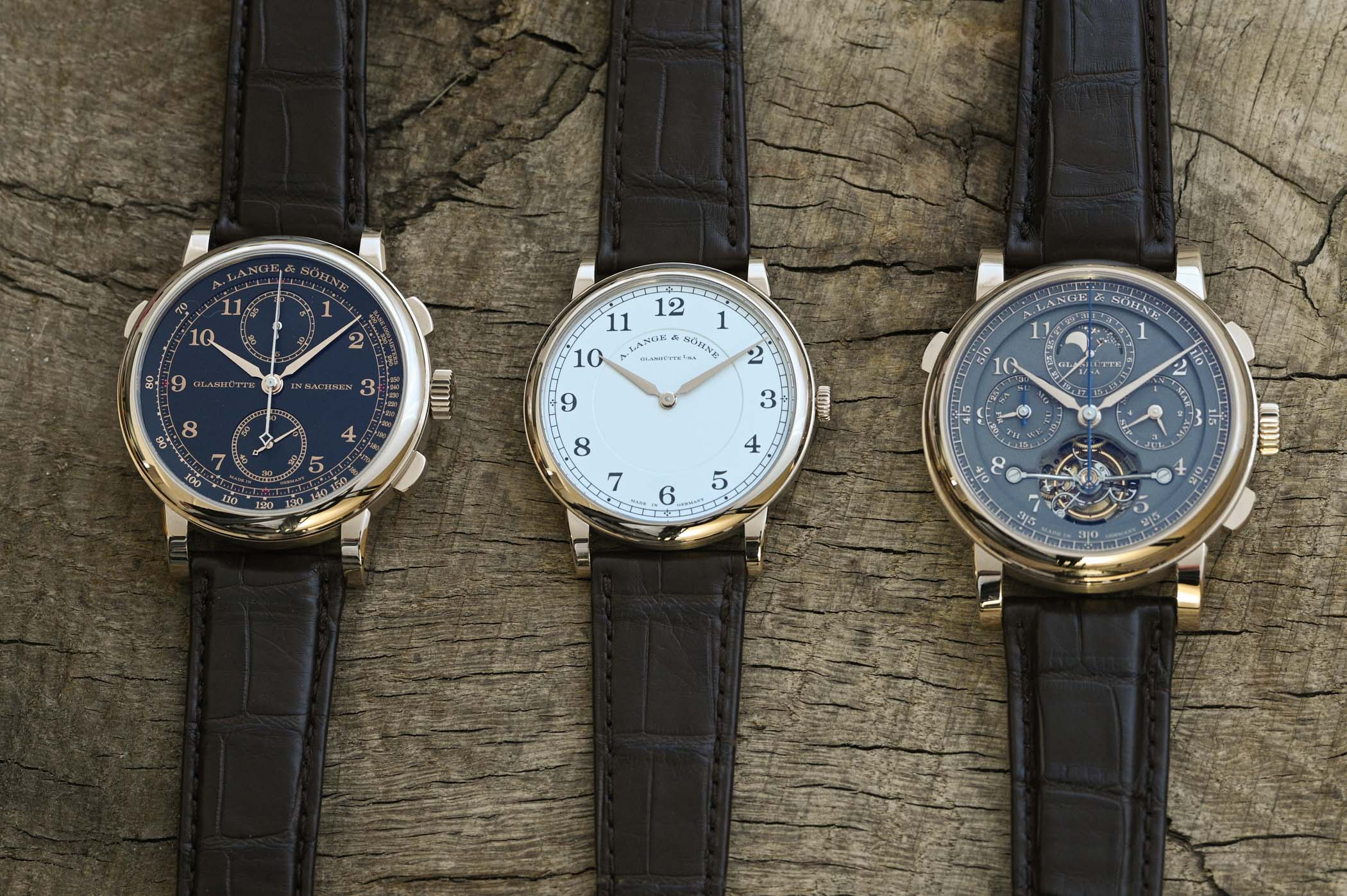 "A. Lange & Söhne Honeygold ""Homage to F. A. Lange"" trilogy"