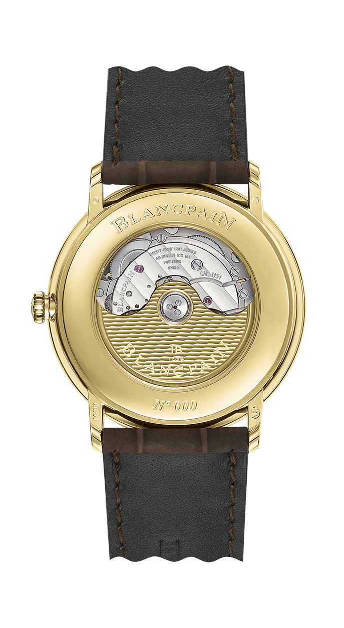 Blancpain Villeret Extraplate Boutique edition Green Dial 6651-1453-55A