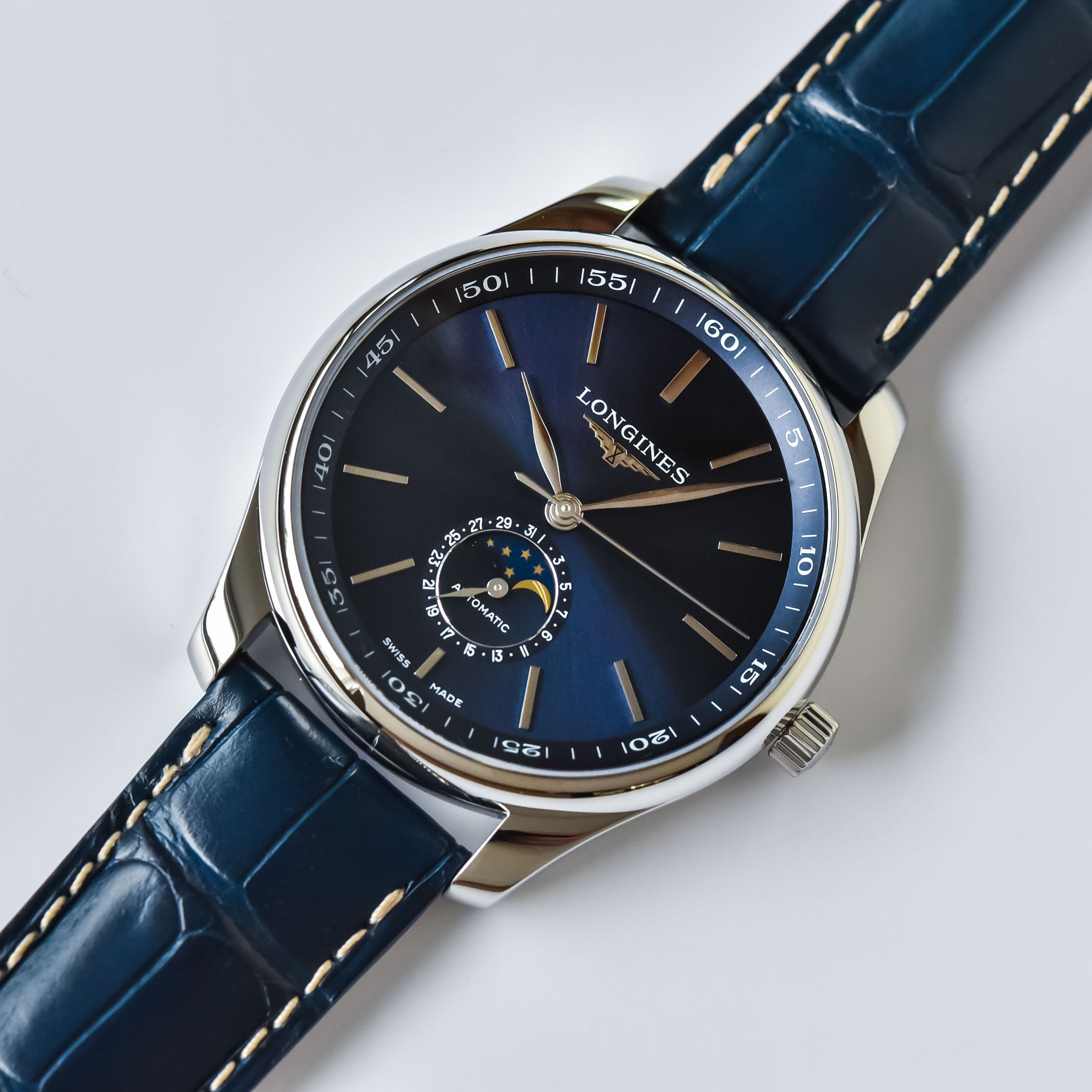 Longines Master Collection Moonphase Blue Dial 42mm - L2.919.4.92.0