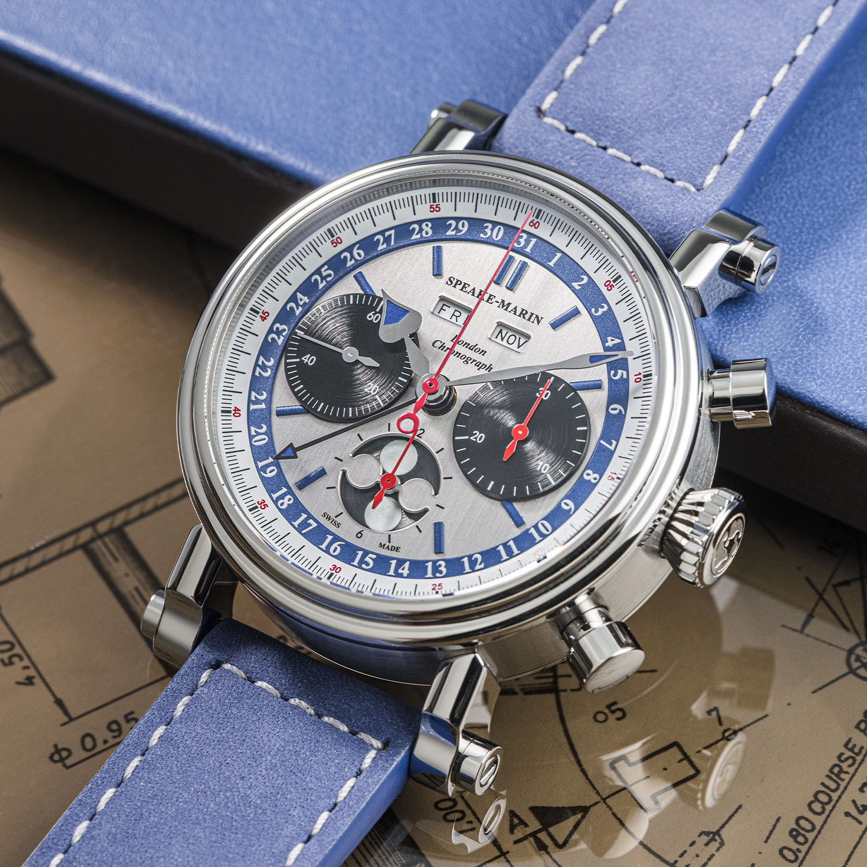 Speake-Marin London Chronograph Triple Date Valjoux 88 - 5